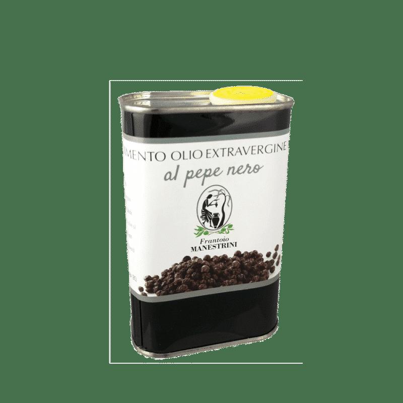 FrantoioManestrini Prodotti CondimentiAromatizzatiaBasediOlioExtraVergineOliva Pepenero lattina 025lt 1