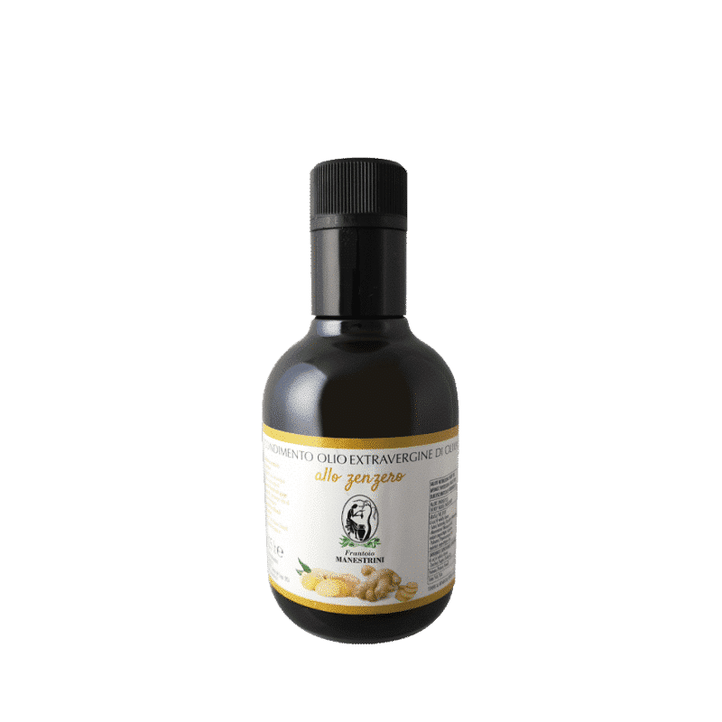 FrantoioManestrini Prodotti CondimentiAromatizzatiaBasediOlioExtraVergineOliva Zenzero bottiglia 025lt 1